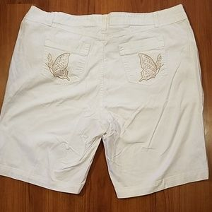 Just my size White butterfly shorts size 24